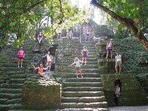 The Mayan ruins in Tikal