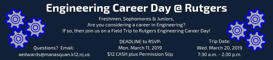 Click for link to Engineering Career Day Letter and Permission Slip