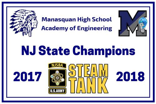 NJ STEAM TANK State Champions Banner