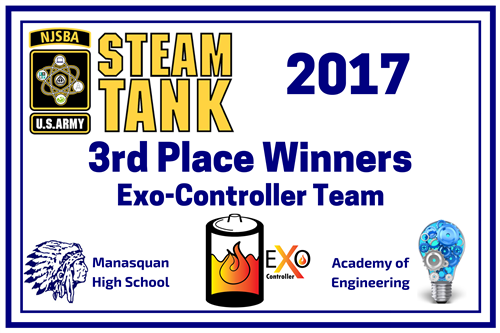 2017 3rd Place STEAM TANK Banner