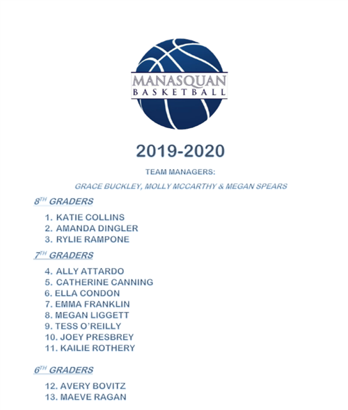MES Girls Basketball 2019-2020