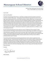 Mr. Goodall Welcome Letter