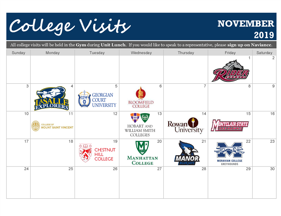 College Visits Nov